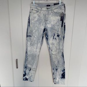 NYDJ Alina Legging Fit Jeans White/Blue Sz 4